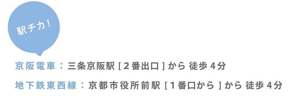 駅チカ 駅から近い歯医者 京阪電車 東西線 市役所前